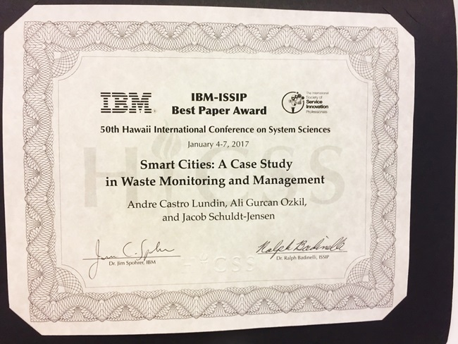 Best Paper at 50th Hawaii International Conference on System Sciences