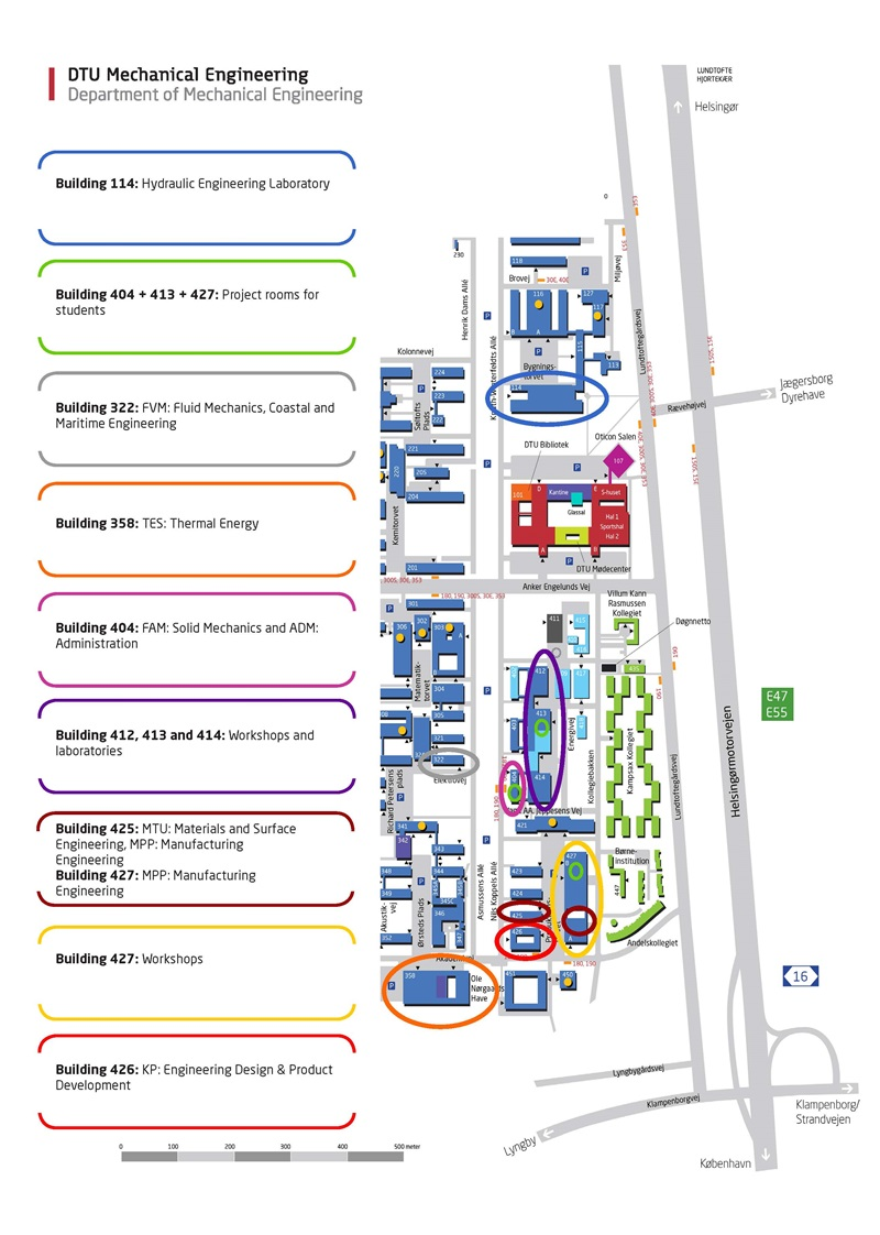 Map DTU Mechanical Engineering